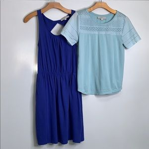 LOFT • Dress and Top Summer Blue Bundle